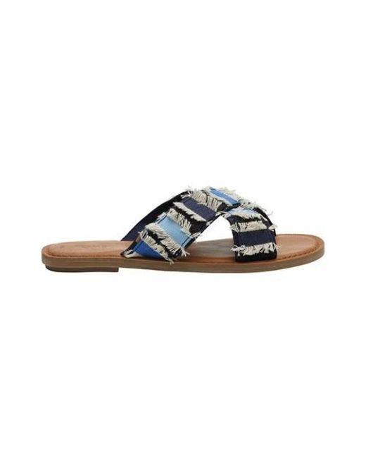 c133fd062 Lyst - TOMS Viv Slide Sandal in Blue