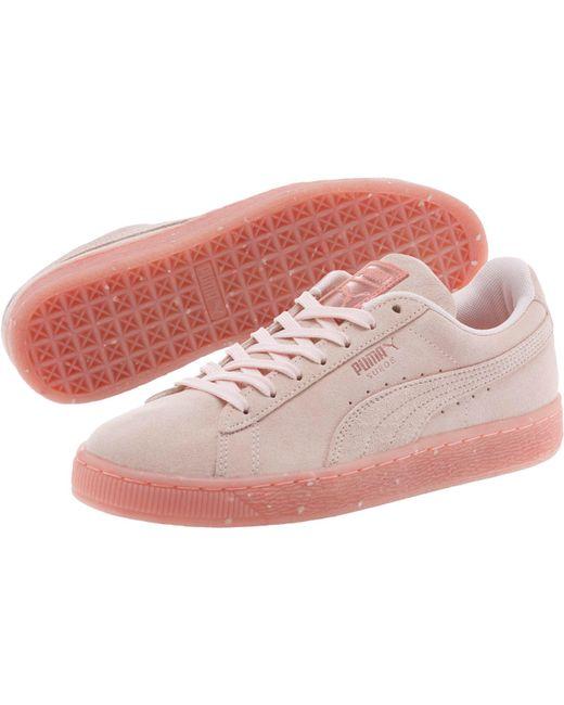 33ec86cee506 Lyst - PUMA Suede Classic Glitz  s Sneakers in Pink - Save 61%