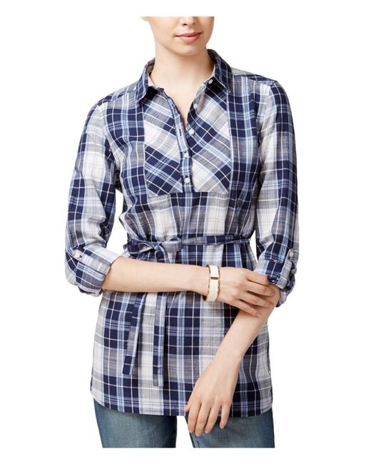 Tommy Hilfiger - Blue Geneva Plaid Shirt, Only At Macy's - Lyst