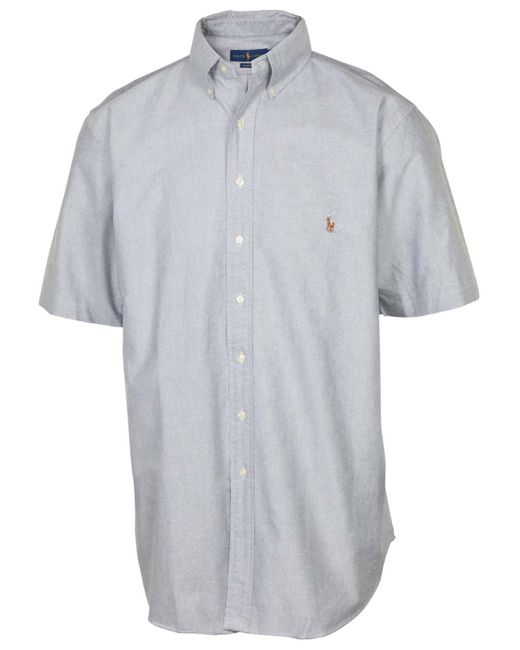 Polo Ralph Lauren - Gray Big & Tall Classic Fit Button Down Shirt--4xlt for Men - Lyst