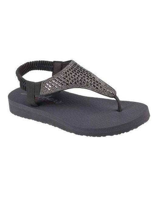 35db9bebd872 Lyst - Skechers Meditation Rock Crown Thong Sandal in Gray