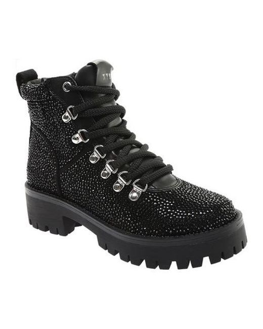 54c5e144cfa Lyst - Steve Madden Bam Hiker Boot in Black