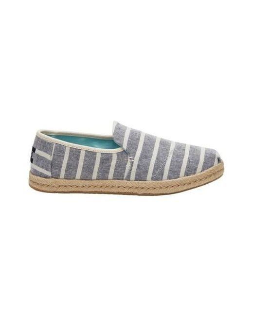 a19cf7220 Lyst - TOMS Deconstructed Alpargata Slip-on Espadrille Flats in Blue ...