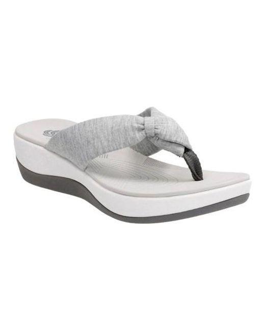 Clarks - Gray Arla Glison Thong Sandal - Lyst