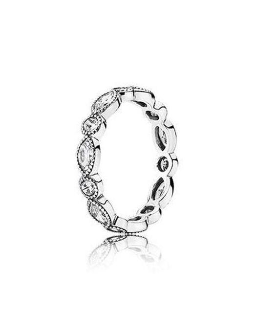Pandora   Multicolor Alluring Brilliant Marquise Clear Cz Ring 190940cz   Lyst