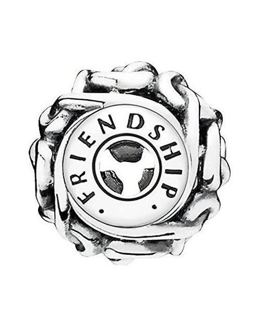 Pandora - Metallic Friendship Essence Collection Charm In - 796057 - Lyst