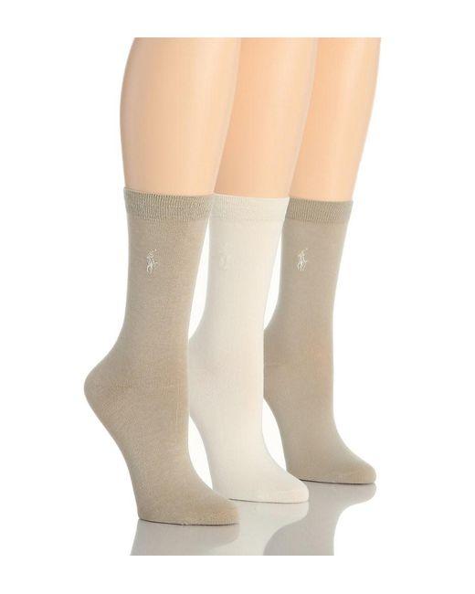 Polo Ralph Lauren | Natural Blue Label 7125 Rl Sport Trouser Sock | Lyst