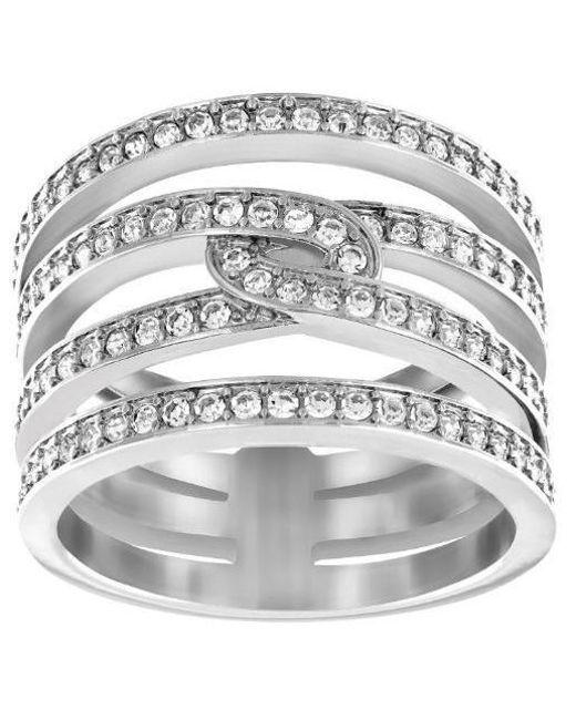 Swarovski   Metallic Creativity Rhodium-tone Crystal Ring   Lyst