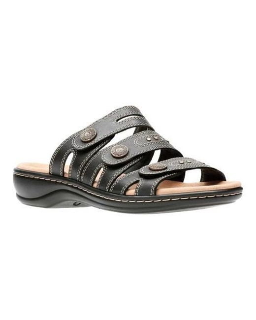cacb2a2be Lyst - Clarks Women s Leisa Grace Sandals in Black - Save 48%