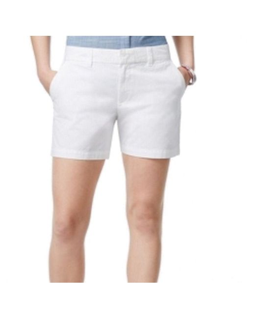 Tommy Hilfiger | White Womens Cotton Casual Khaki | Lyst