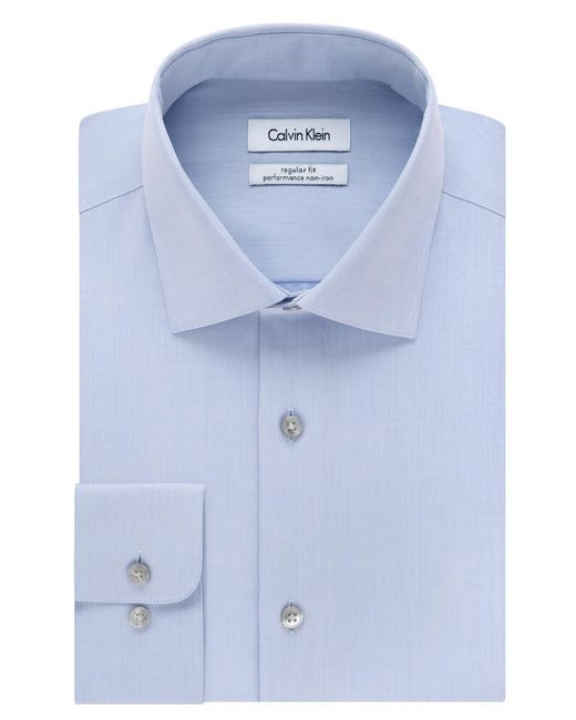 Calvin Klein - Blue Steel Men's Classic Fit Non-iron Performance Solid Dress Shirt for Men - Lyst