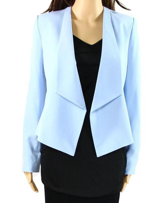 Calvin Klein - Blue Navy Size 6p Petite One Button Blazer - Lyst
