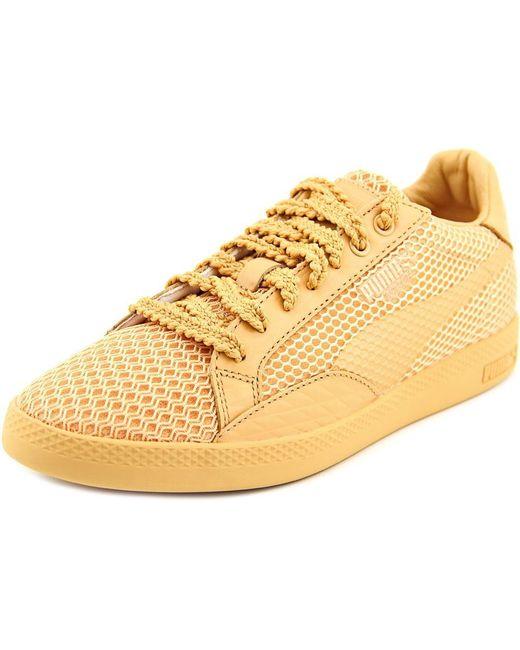 PUMA | Metallic Match Lo Stutter Stripe Wn's Women Us 8 Tan Sneakers | Lyst