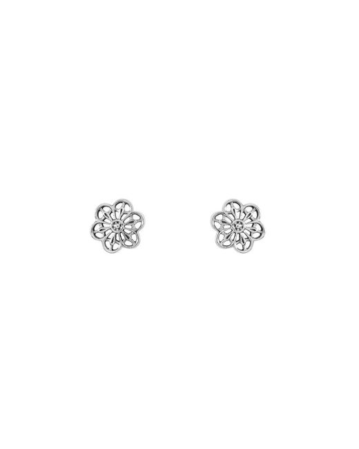 Pandora | Metallic Silver Floral Daisy Lace Ladies Earring 290692 | Lyst