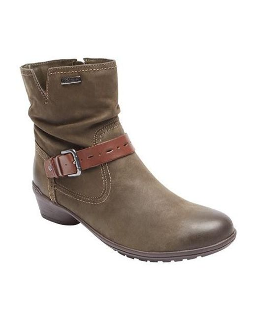 Rockport | Brown Cobb Hill Riley Waterproof Boot | Lyst