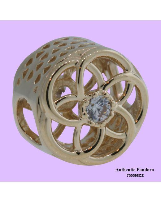 Pandora - Metallic Charm Loving Bloom In 14k Gold - Lyst