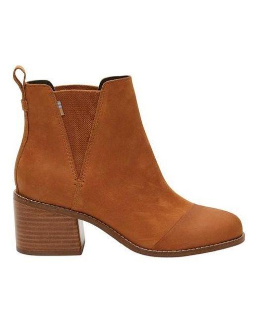 218b8d62145 Lyst - TOMS Esme Bootie in Brown - Save 10%