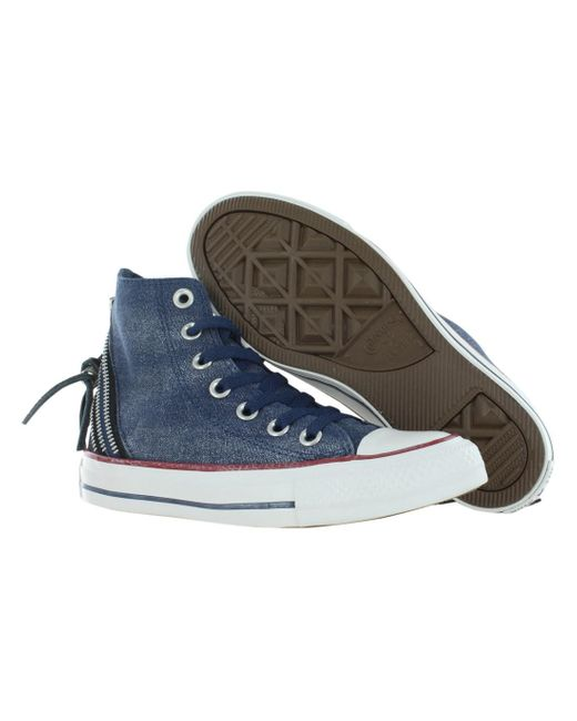 Converse | Blue Chuck Taylor All Star Tri Zip Sparkle Shoes Size 9 for Men | Lyst