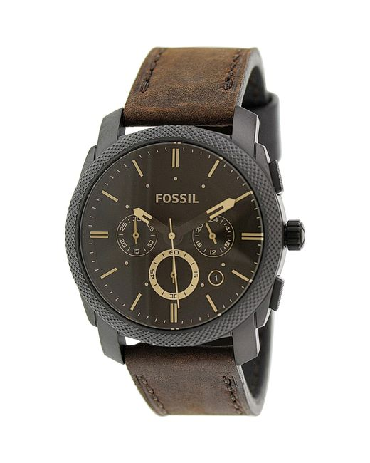 Fossil | Multicolor Fs4656 Machine Leather Watch for Men | Lyst
