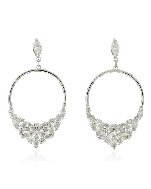 Well-known Lyst - Swarovski Lady Frontal Hoop Pierced Earrings - White  GM58