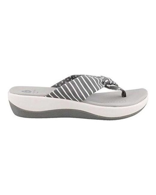 a6673e7720ba Lyst - Clarks Arla Glison Thong Sandal in Gray