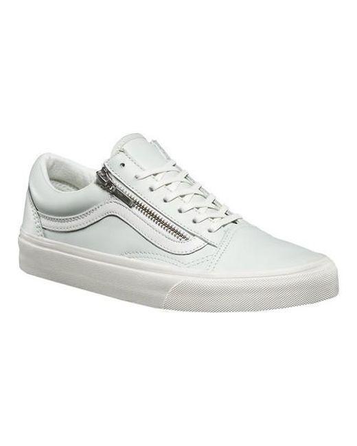 6ef66013a4870b Lyst - Vans Old Skool Zip Sneaker in White for Men