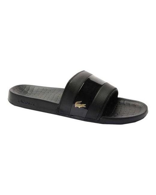 60549ad555ab Lyst - Lacoste Frasier Slide Sandal in Black