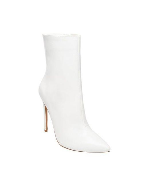 c8bf9d1615e Lyst - Steve Madden Wagner Stiletto Bootie in White - Save 60%