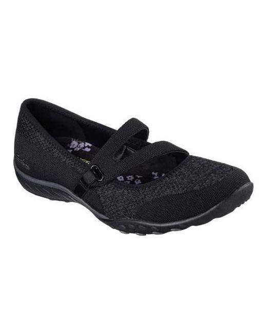 Skechers - Black Relaxed Fit Breathe Easy Lucky Lady Mary Jane - Lyst 685b76114cb