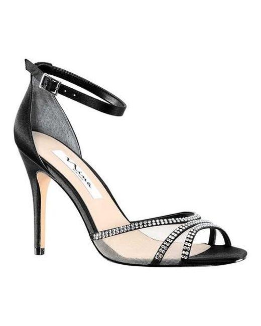 fca9190db2b Lyst - Nina Calissa Evening Sandals in Black - Save 65%