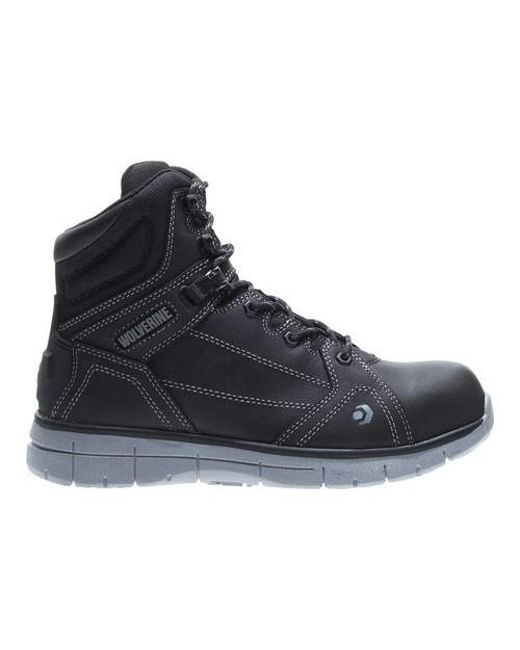 7813e94c0242 Lyst - Wolverine Rigger Mid Carbonmax Toe Work Boot in Black for Men ...