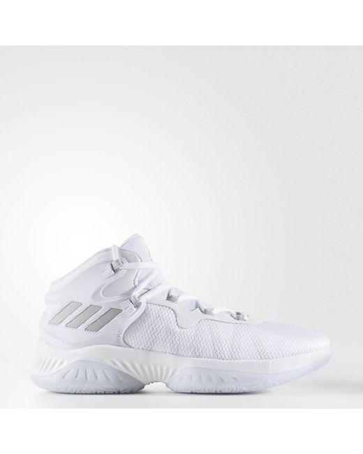 595cc9bd8 Adidas - White Explosive Bounce Basketball Sneaker for Men - Lyst ...