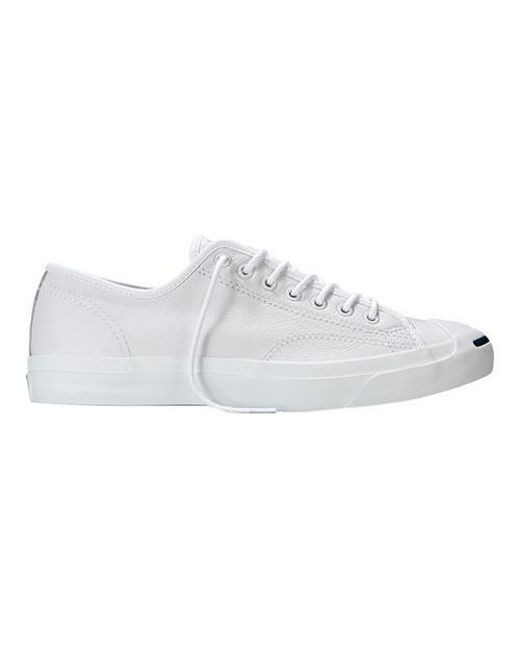 Converse - White Unisex Jack Purcell Tumbled Leather Ox Sneaker for Men - Lyst