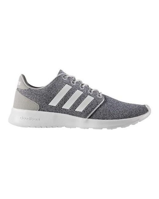 new product 14776 fc892 ... uk adidas gray neo cloudfoam qt racer sneaker lyst d6e31 3a3be ...