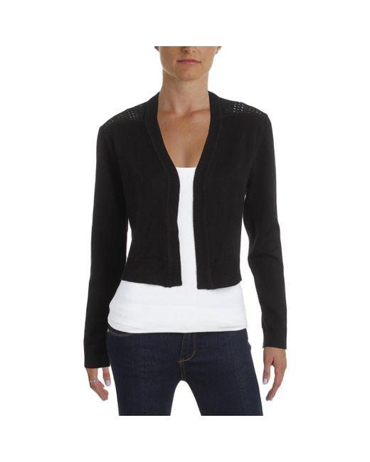 Tommy Hilfiger - Black Perforated Xl Shrug Cardigan Sweater Jacket - Lyst