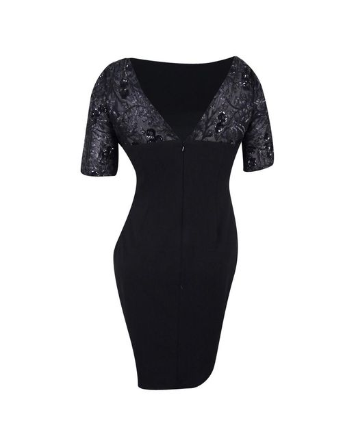 Lyst Calvin Klein Black Size 6 Sheath Sequin Solid Dress In Black