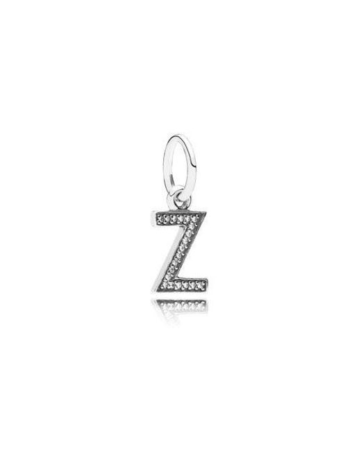Pandora | Multicolor Authentic Letter Z Dangle W/cubic Zirconia | Lyst
