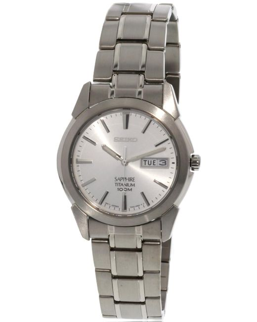 Seiko - Metallic Sapphire White Dial Titanium Watch Sgg727P1 for Men - Lyst