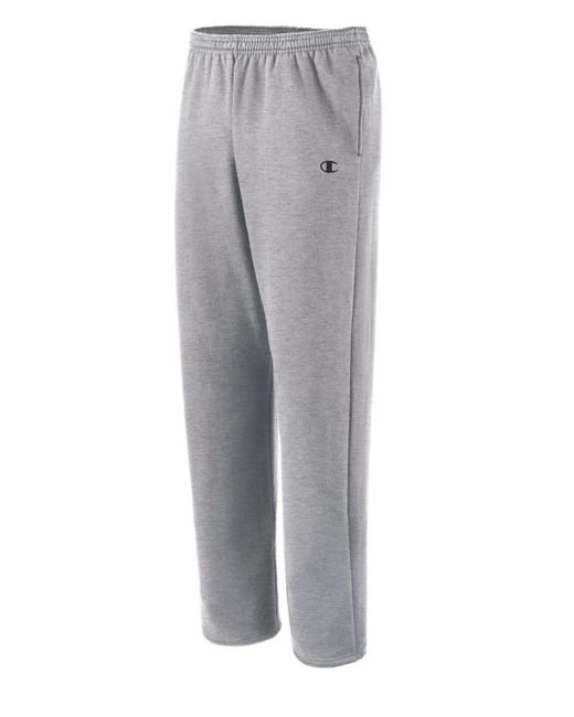 Champion - Gray Authentic Open Bottom Jersey Pants for Men - Lyst