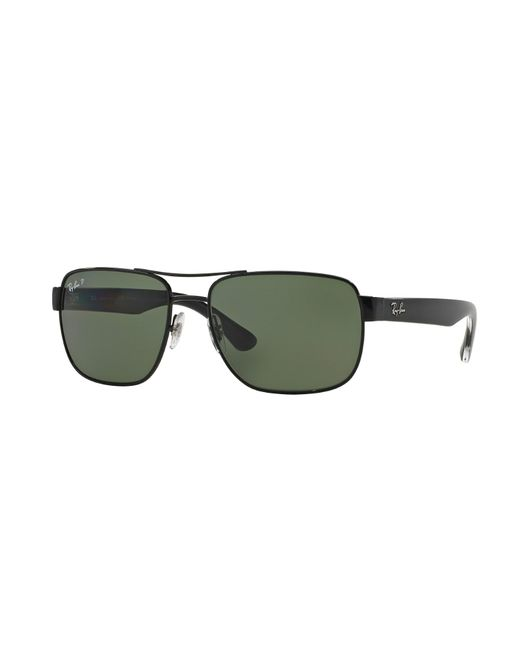 Ray-Ban - 0rb3530 002/9a 58 Black/polar Green Highstreet Sunglasses for Men - Lyst