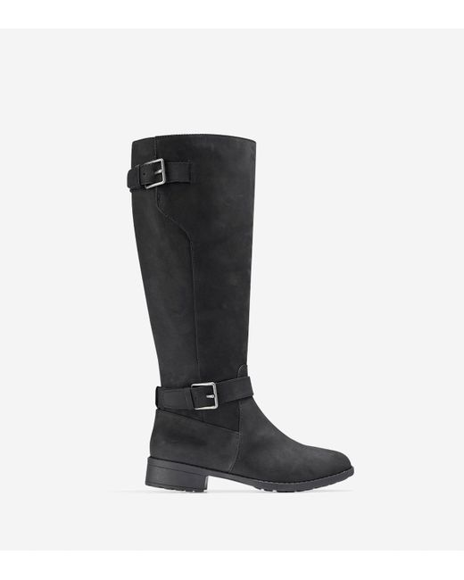 Cole Haan - Black Rtn Closed Toe Mid-calf Riding Boots - Lyst