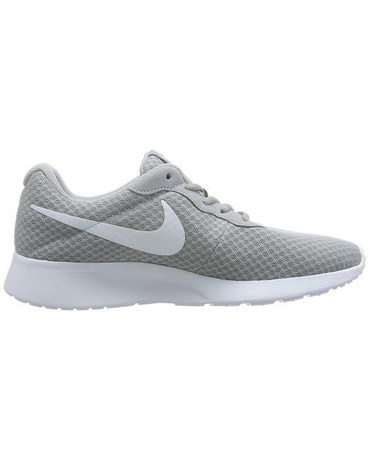 ... Nike - Gray 812654-010 : Mens Tanjun Running Sneaker Wolf Grey/white ...