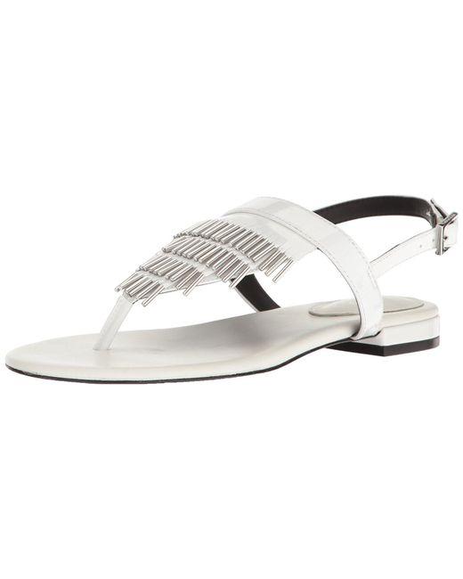 d0113b05abb8 Calvin Klein - White Evonie Open Toe Casual Gladiator Sandals - Lyst ...