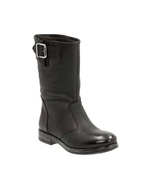 Clarks - Black Women's Sicilly Day Mid Calf Boot - Lyst