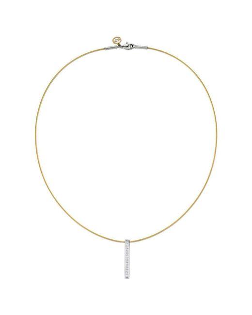 Alor - Metallic 18kt White Gold & Stainless Steel Classique Diamond Drop Necklace - Lyst