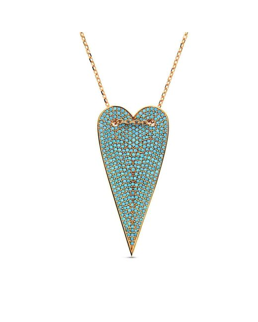 Cosanuova - Multicolor Long Turquoise Heart Necklace - Lyst