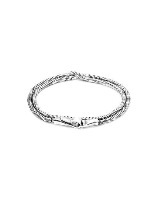 Anchor & Crew - Metallic Gallant Double Sail Silver Chain Bracelet - Lyst