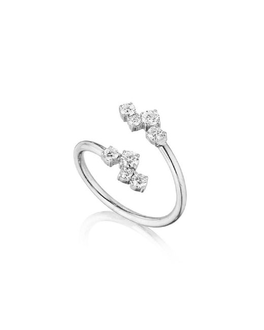 Madstone Design - Metallic Melting Ice Crossover Diamond Ring - Lyst