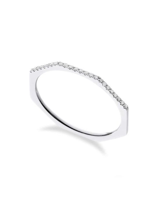 Georgina Boyce Fine Jewellery | Metallic White Gold Facet Ring | Lyst