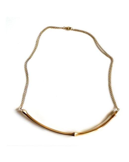 Brandts Jewellery - Metallic Twig Necklace – Gold - Lyst